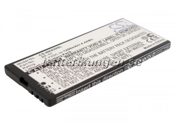 Batteri til Nokia Lumia 820 mfl - 1.200 mAh