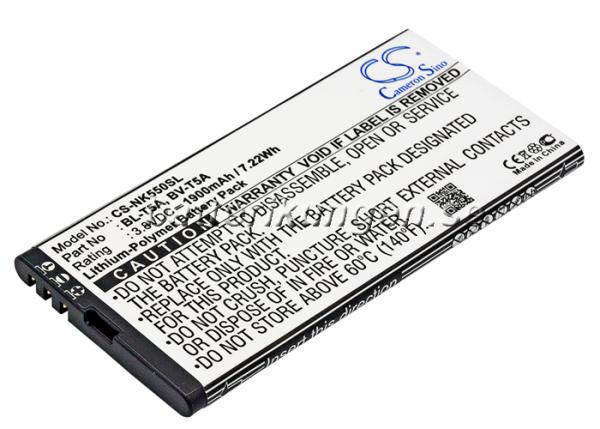 Batteri til Microsoft Lumia 550 mfl  - 1.900 mAh