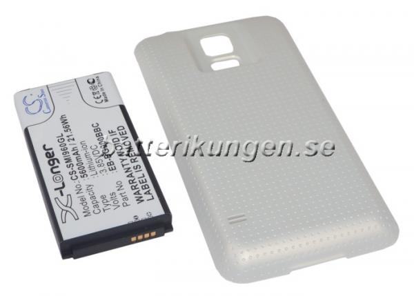 Batteri til Samsung Galaxy S5 mfl - 5.600 mAh - Guld