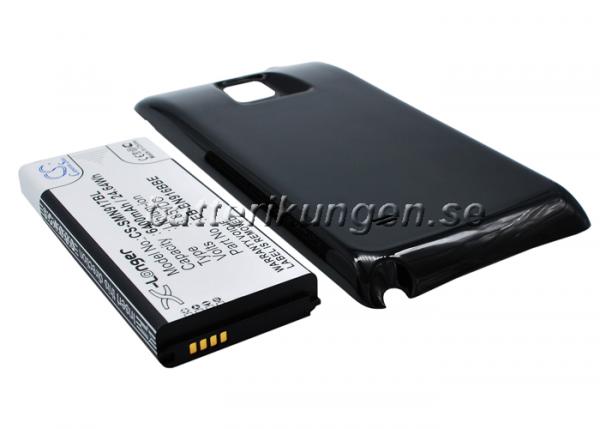 Batteri til Samsung Galaxy Note 4 mfl - 6.400 mAh - Svart