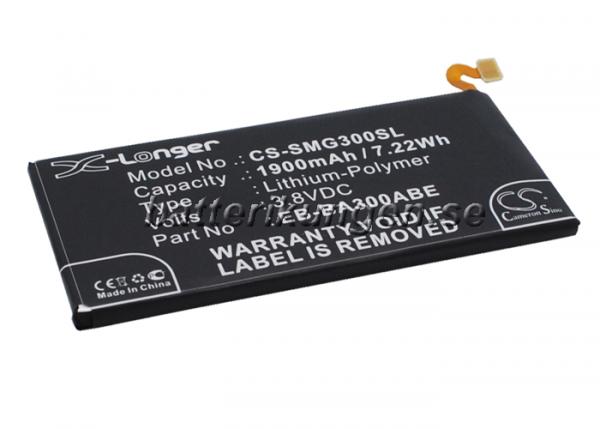 Batteri til Samsung Galaxy A3 mfl - 1.900 mAh