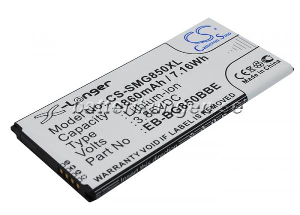 Batteri til Samsung Galaxy Alpha mfl - 1.860 mAh