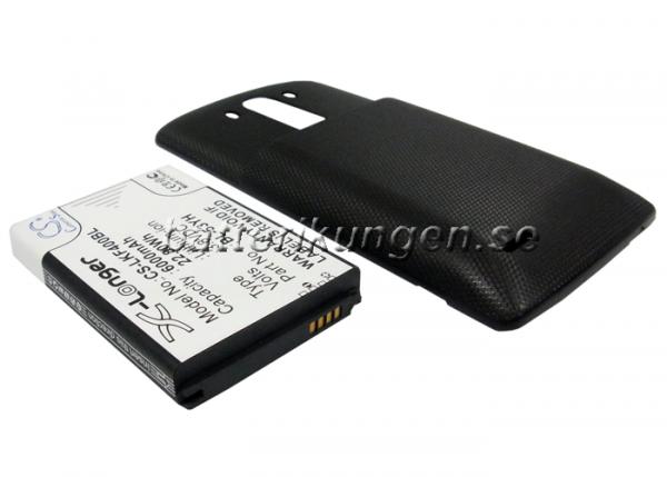 Batteri til LG G3 mfl - 6.000 mAh - Svart