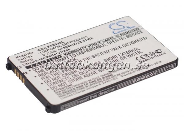 Batteri til LG KF900 mfl - 950 mAh