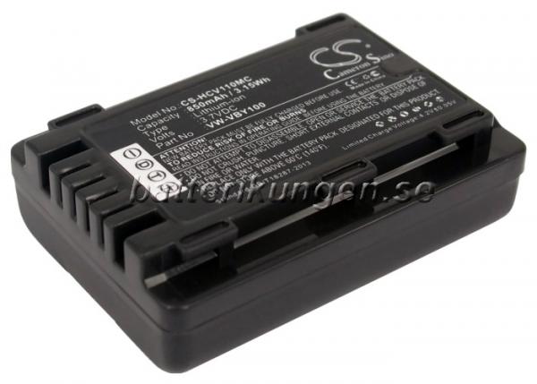 Batteri til Panasonic som ersätter VW-VBY100 mfl
