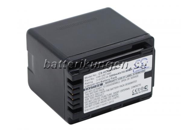 Batteri til Panasonic som ersätter VW-VBT380 - 3.000 mAh