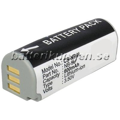 Batteri til Canon som ersätter NB-9L