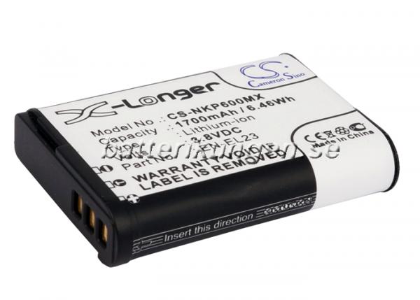 Batteri til Nikon som ersätter EN-EL23