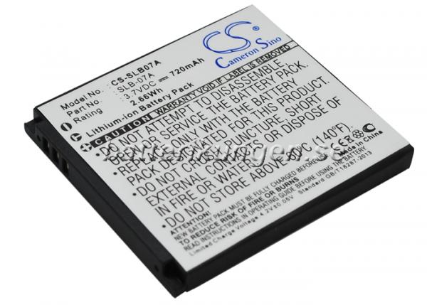 Batteri til Samsung som ersätter SLB-07A