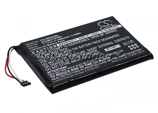 Batteri til Garmin Nuvi 2639LMT mfl - 1.500 mAh