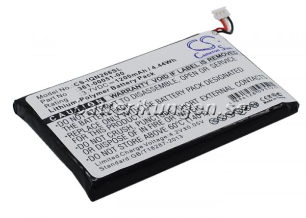 Batteri til Garmin Nuvi 2660LMT mfl  - 1.200 mAh
