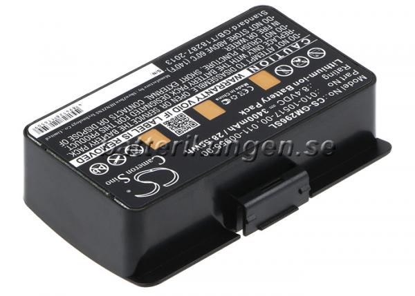 Batteri til Garmin GPSMAP 276 mfl - 3.400 mAh