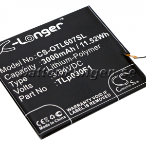 Batteri til BlackBerry BBA100-1 mfl - 3.000 mAh