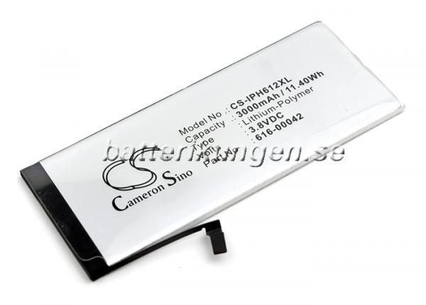 Batteri til Apple iPhone 6s Plus mfl - 3.000 mAh