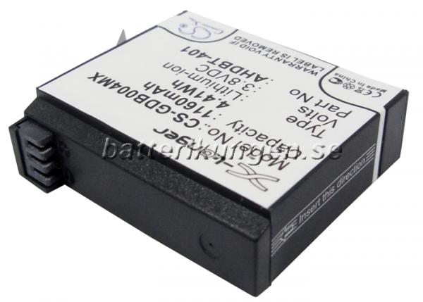 Batteri til GoPro Hero 4 mfl - 1.160 mAh
