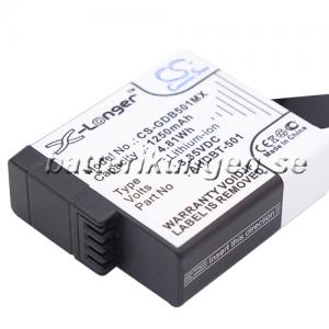 Batteri til GoPro Hero 5 mfl - 1.250 mAh