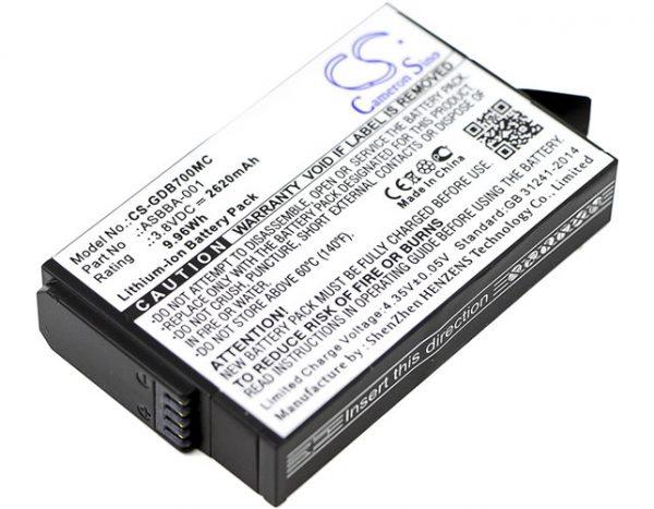 Batteri til GoPro Fusion - 2.620 mAh
