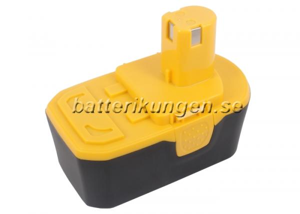 Batteri til Ryobi BID-1801M mfl - 3.000 mAh