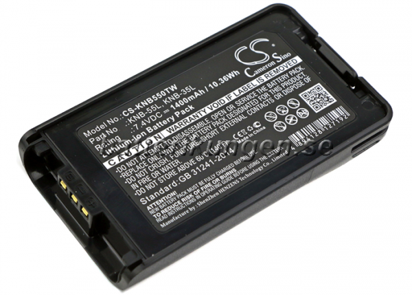 Batteri til Kenwood NX-220 mfl - 1.400 mAh