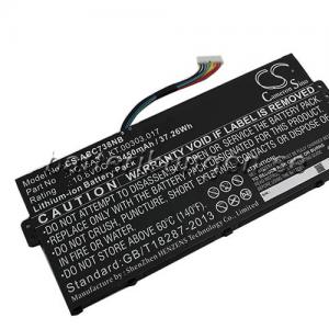 Batteri til Acer  Chromebook C738T mfl - 3.450 mAh