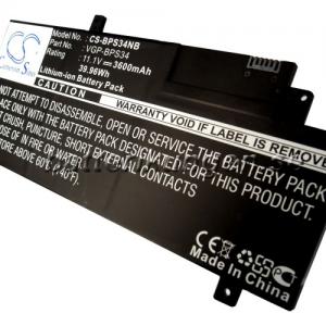 Batteri til Sony som ersätter VGP-BPS34 mfl