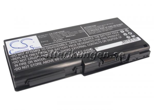 Batteri til Toshiba Qosmio 90LW mfl - 8.800 mAh