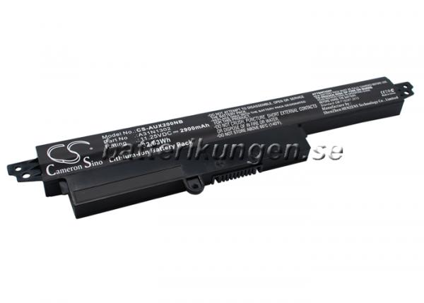 Batteri til Asus VivoBook X200CA mfl - 2.900 mAh