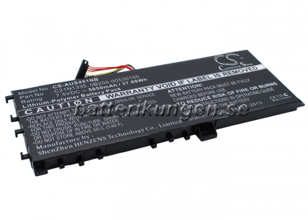 Batteri til Asus VivoBook S451 mfl - 5.050 mAh