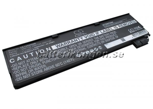 Batteri til Lenovo ThinkPad T440 mfl - 4.400 mAh