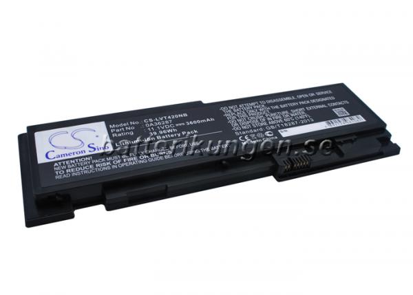 Batteri til Lenovo ThinkPad T420s mfl - 3.600 mAh
