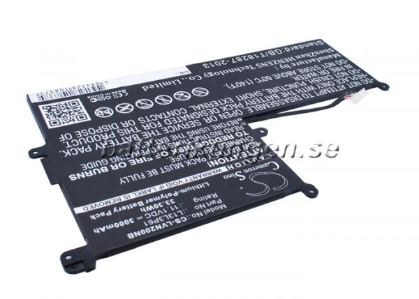 Batteri til Lenovo Chromebook N20P mfl - 3.000 mAh