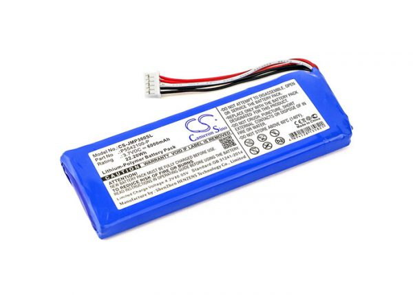 Batteri til JBL Pulse 3 - 6.000  mAh